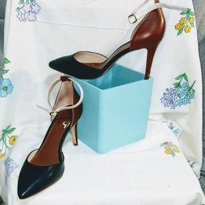 J Crew Colorblock Ankle Strap Heels
